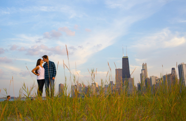 Erin + Andrew's Chicago Engagement Photography Session