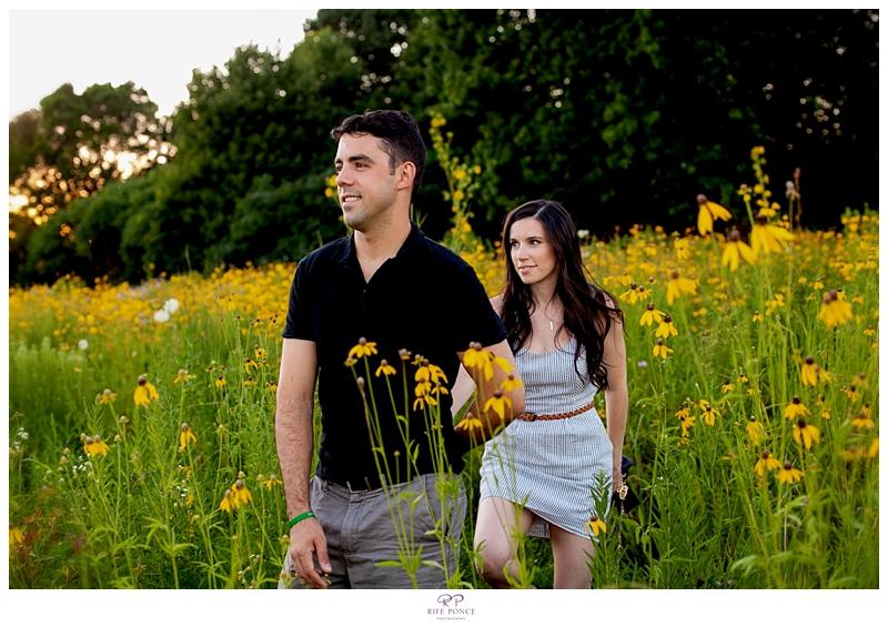 Amanda + Eric's Montrose Harbor & downtown Chicago engagement session